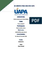 Tarea X, Infotecnología Para El Aprendizaje, UAPA