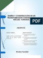 CALCULOS DE TRANSFORMADOR CON NUCLEO TOROIDAL