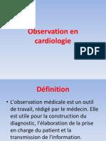 Observation Médicale en Cardiologie CVX