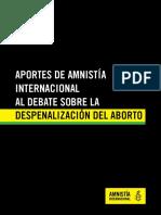 Aportes de Amnistía-Internacional al debate sobre la despenalización del aborto