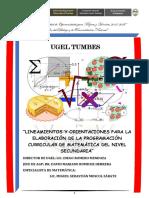 2. Lineamientos y orientaciones para la programacion curricular de matematica. Tumbes.pdf