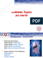 Abdomen Injury - English