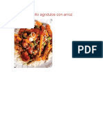 Pollo Agridulce Con Arroz