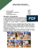 Receta Ciabatta (Español)