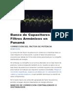 Banco de Capacitores y Filtros Armónicos en Panamá