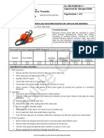Chainsaw Fuel Procedure