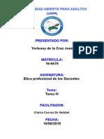 Tarea IV Etica Profesional de Los Docentes Yorleny