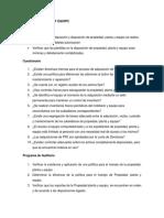 Auditoria de Propiedad, Planta y Equipo