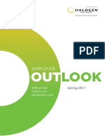 Employee Outlook Survey (CIPD, 2017)