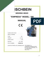 Cosedora Pedestral Manual FISCHBEIN 100 Gb 05-2009