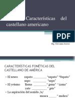 Tema 2. El Castellano Americano
