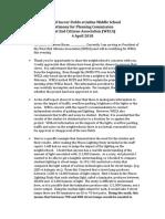 Rockville Planning Commission Testimony WECA 18-04-04