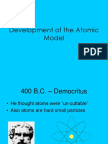 11 development of the atomic model