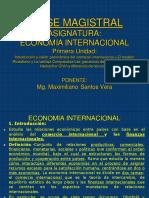 Clase Magistral Econ.internac -Mg. Maximiliano Santos Vera