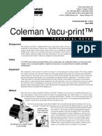 Coleman Vacu Print