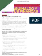 Pago Del Aguinaldo y Cálculo Del ISR Anual _ IDC