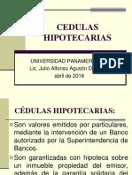 Cedulas Hipotecarias Abril 2018