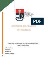Plan de Ejecucion Del Proyecto GRUPO 4