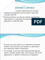 Functional Literacy