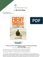 'Enemy Combatant', Moazzam Begg Open Democracy