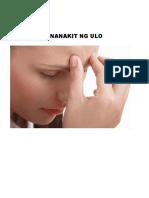 Pananakit Ng Ulo
