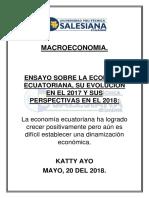 Ensayo Economia Ecuatoriana Katty Ayo