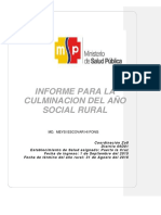 Informe de Rural MSP