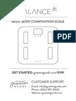 Balance Scale Manual