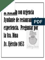 Se Necesita con urgencia Ayudante de restaurante C.docx
