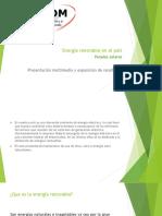 presentación multimedia y análisis de resultados