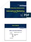 International Marketing for Mba