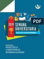 Bases de La Competencia Interfacultades - Xxiv Semana Universitaria - 7.6