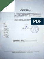 Certificado de Cursar
