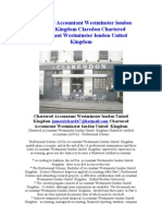 Chartered Accountant Westminster UK