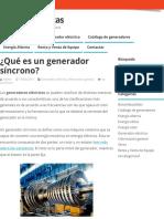 ¿Qué es un generador síncrono_