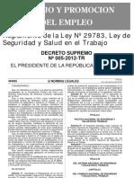 DS-005-2012TR - REGLAMENTO DE LA LEY DE SEGURIDAD Y SALUD EN EL TRABAJO.pdf