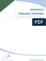 Appendix 2 Statutory Controls