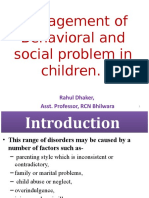 Management of Behavioral and Social Problem in Children...-PPT Unit VI