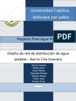 Proyecto Final de Agua Potable Red de Distribucion - Che Guevara