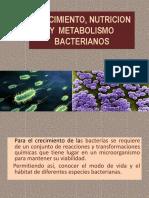 Crecimiento, Nutricion y Metabolismo Bacterianos