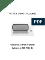 Instrucciones Altavoz Estereo