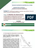 3. Modelos de Depreciación