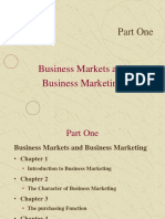 Business Markets and Business Marketing