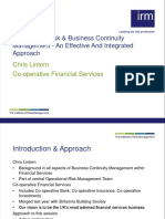 Operational Risk Business Continuity Managment an Effevtive and Integrat Approach