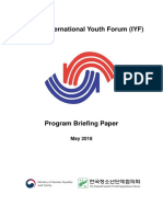 Briefing Paper The 29th IYF Program