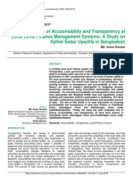 Dimensions of Accountability and Transparency at Local Level Finance Management Systems