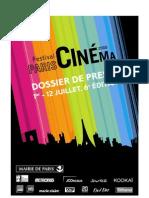 dossier presse festival paris cinema 2008