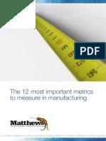 12 Manufacturing Metrics
