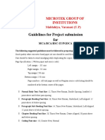 Guidelines for Project Submission for Integral