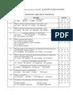 Entrance Test Question Paper Jan 2010